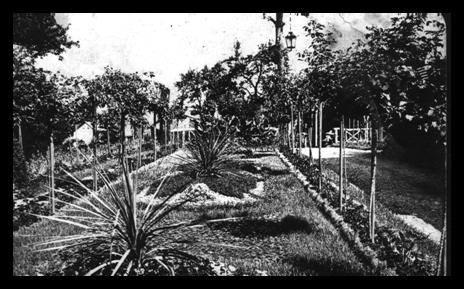 park ispred vile Grete i Juliusa Minh na Rtnju