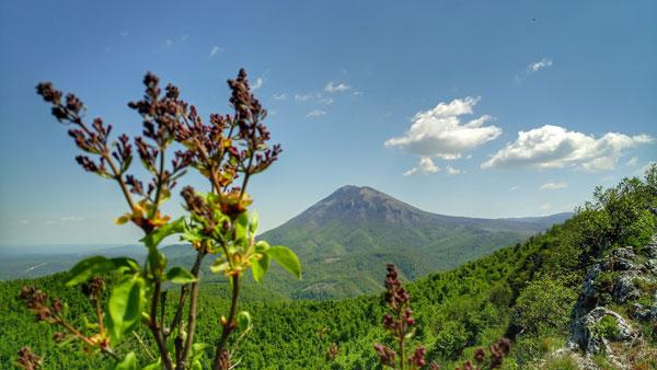 greben skok i pogled na planinu Rtanj